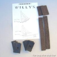 body mounting pad set for early and std. willys mb
