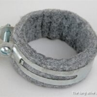 crossover to carburator pipe felt and clamp for ford gpw