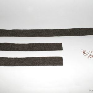 "radiator top and side seals set for willys ""slatt grille"""