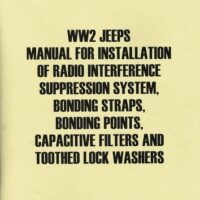 manual for installation of radio interference suppression system, bonding straps, bonding points