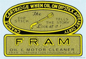 Oil filter label